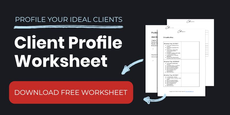 Client Profile Worksheet Template