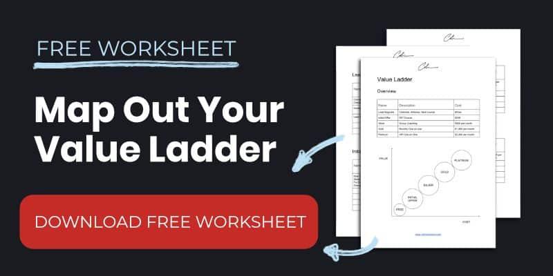 Value Ladder Worksheet Template