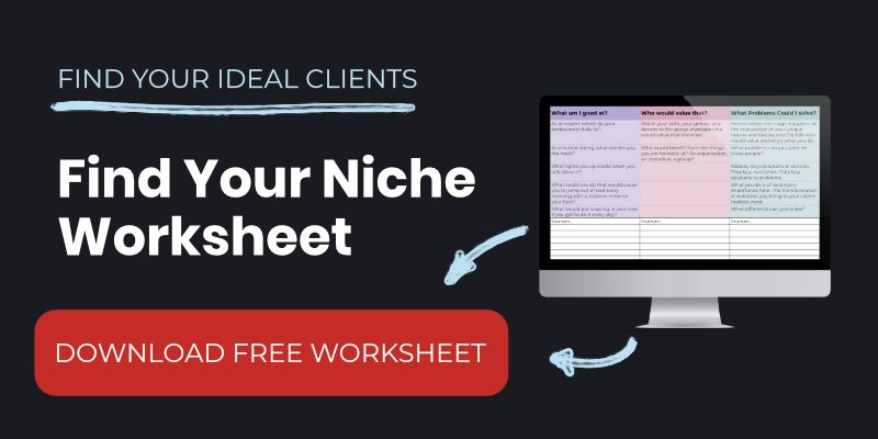 Find Your Niche Worksheet
