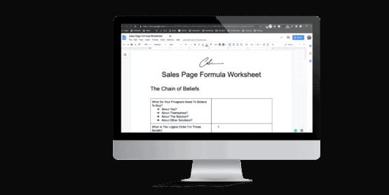 Sales Page Worksheets